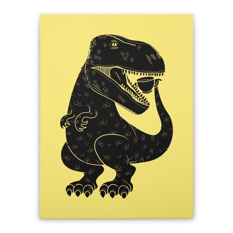 Tea-Rex Home Stretched Canvas by heavyhand's Artist Shop