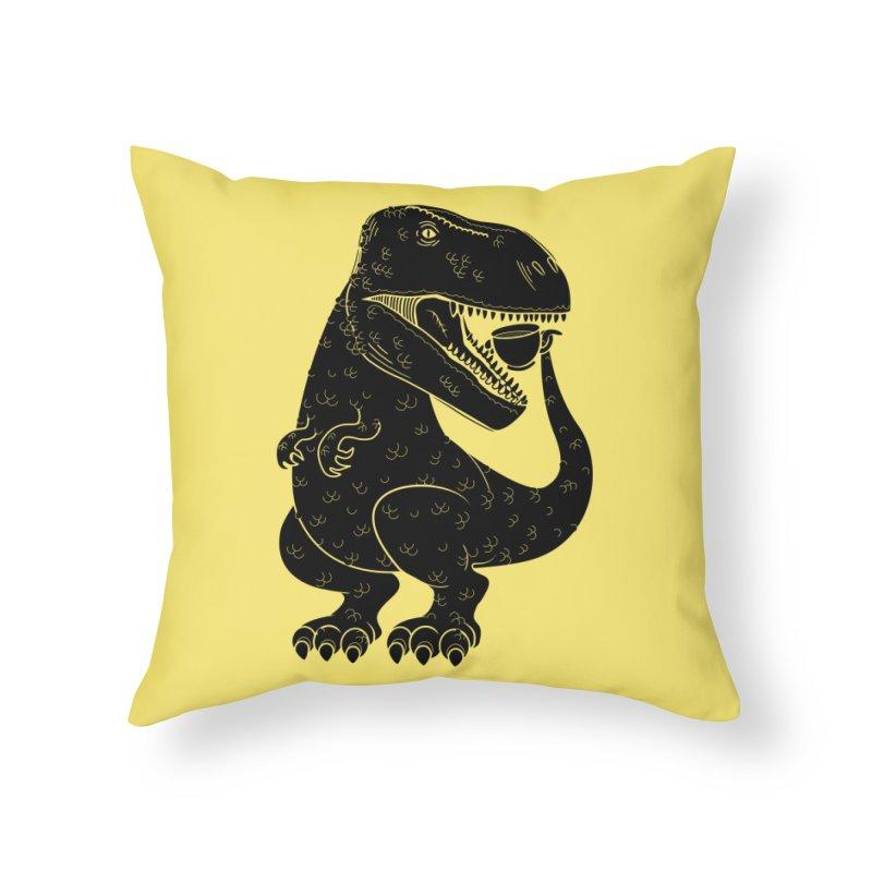 Tea-Rex Home Throw Pillow by heavyhand's Artist Shop