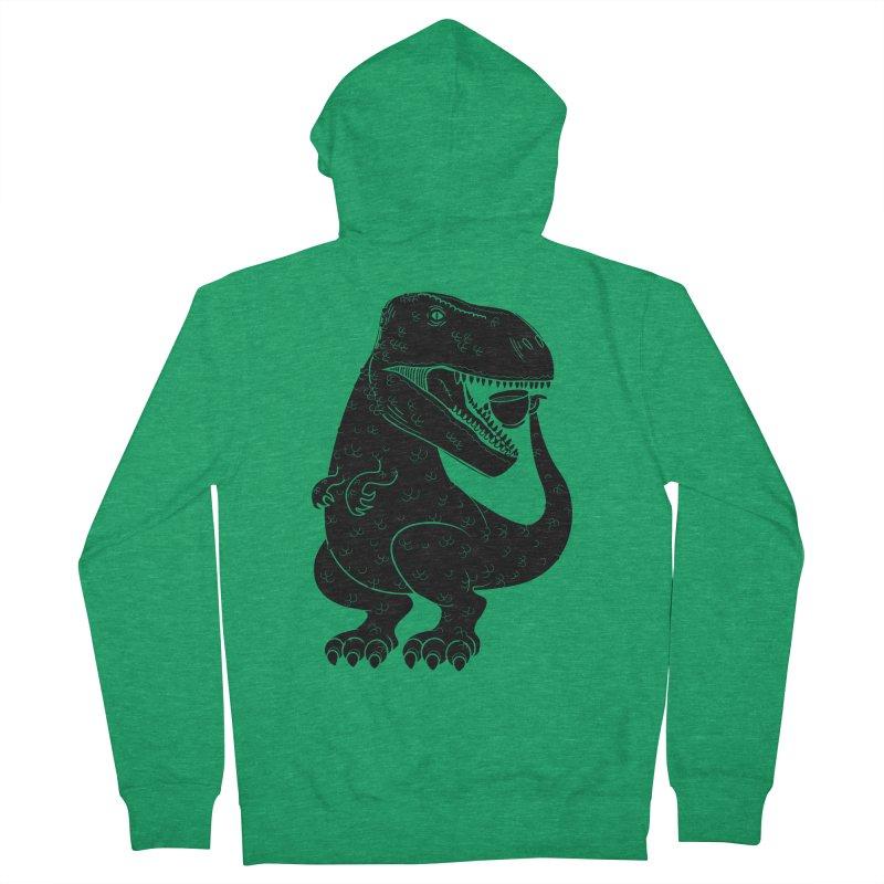 Tea-Rex Men's Zip-Up Hoody by heavyhand's Artist Shop