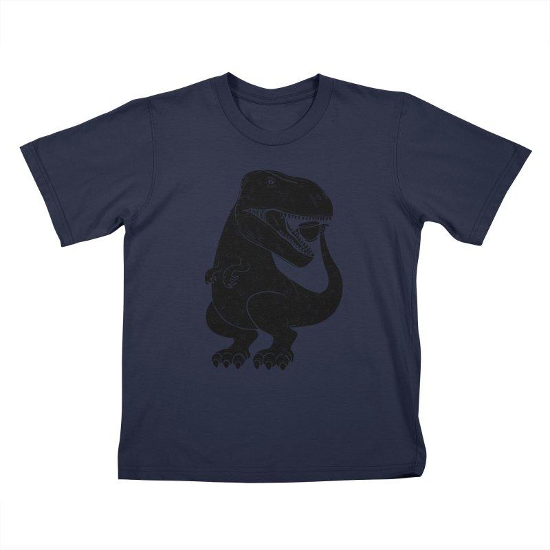 Tea-Rex Kids T-Shirt by heavyhand's Artist Shop