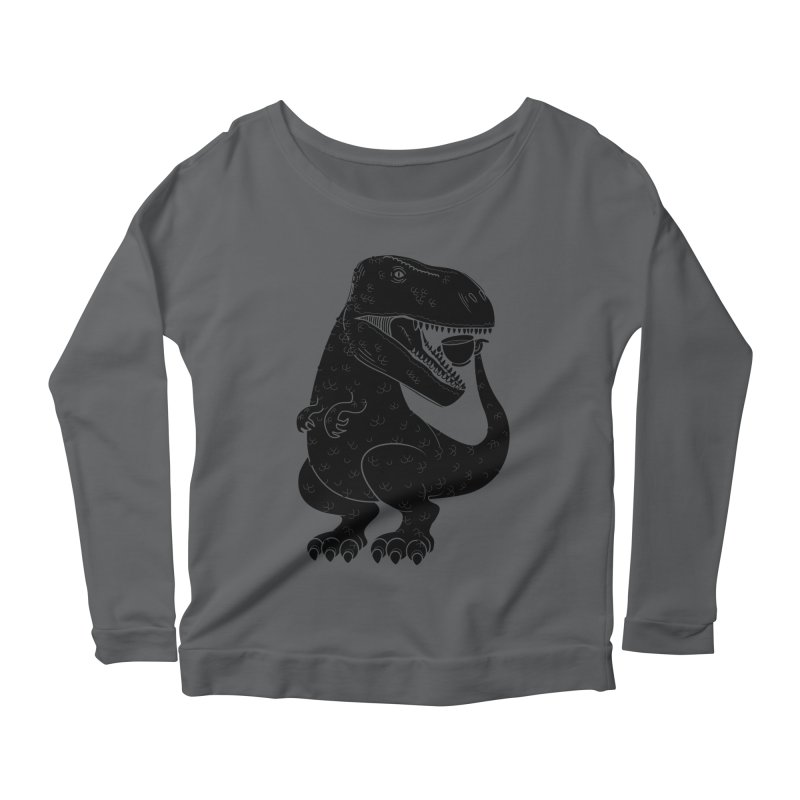 Tea-Rex Women's Longsleeve T-Shirt by heavyhand's Artist Shop