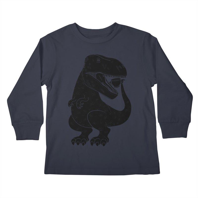Tea-Rex Kids Longsleeve T-Shirt by heavyhand's Artist Shop