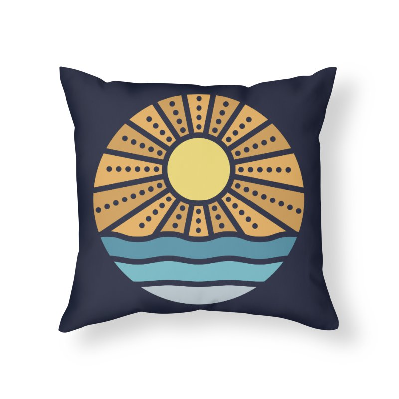On the Beach Home Throw Pillow by heavyhand's Artist Shop