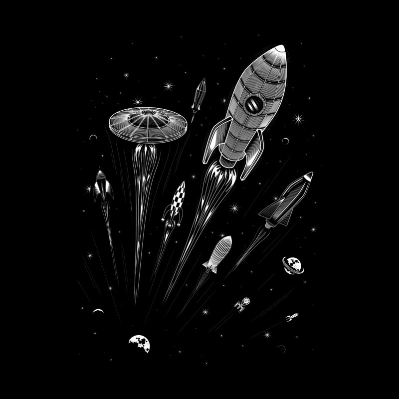 Space Race Men's Triblend T-shirt by heavyhand's Artist Shop