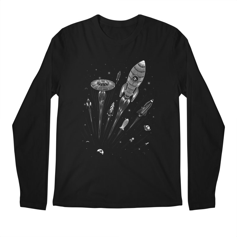 Space Race Men's Longsleeve T-Shirt by heavyhand's Artist Shop