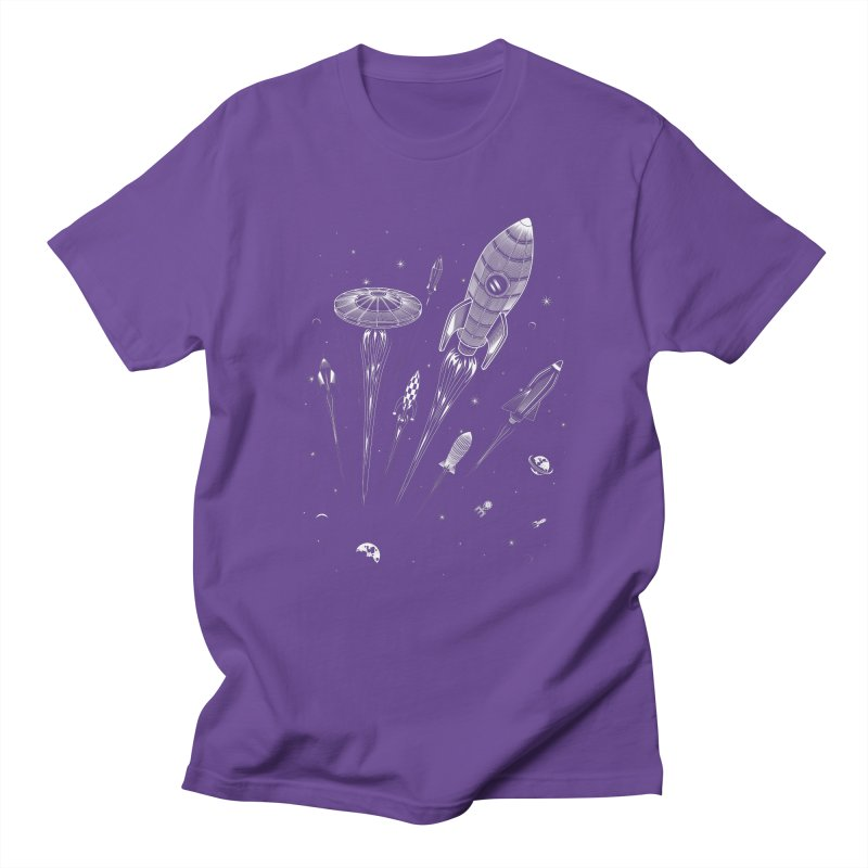 Space Race Men's T-shirt by heavyhand's Artist Shop
