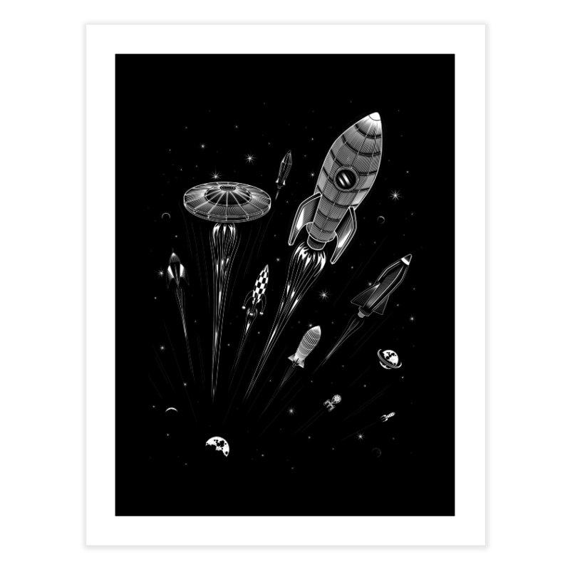 Space Race Home Fine Art Print by heavyhand's Artist Shop