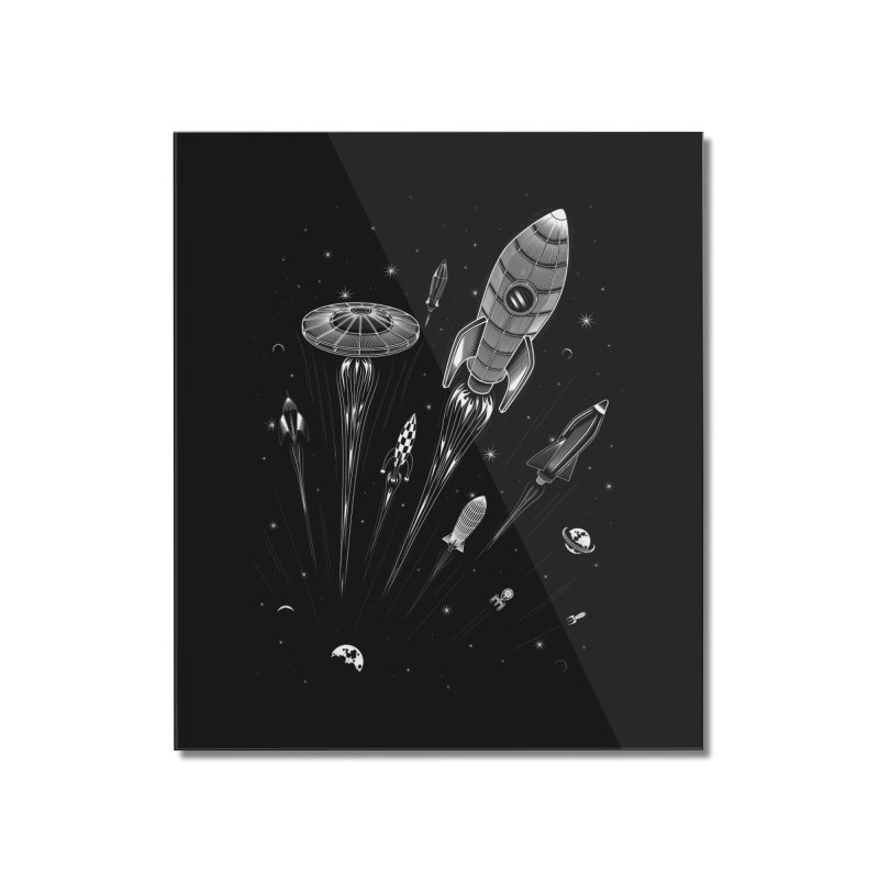 Space Race Home Mounted Acrylic Print by heavyhand's Artist Shop
