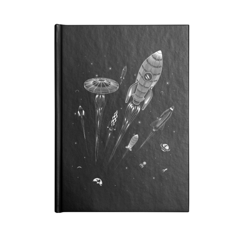 Space Race Accessories Notebook by heavyhand's Artist Shop