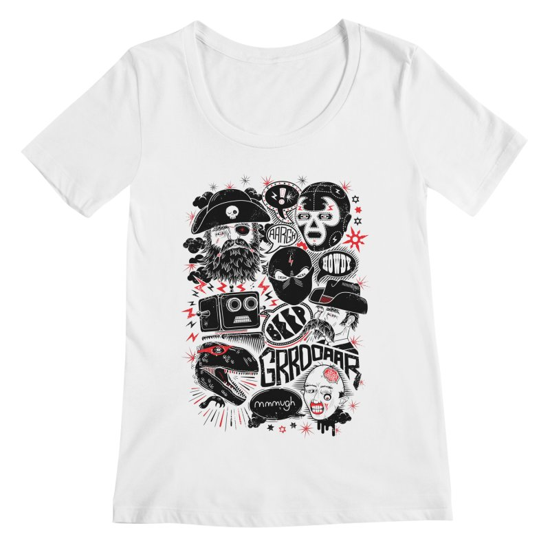 Team Fantastic Women's Scoopneck by heavyhand's Artist Shop