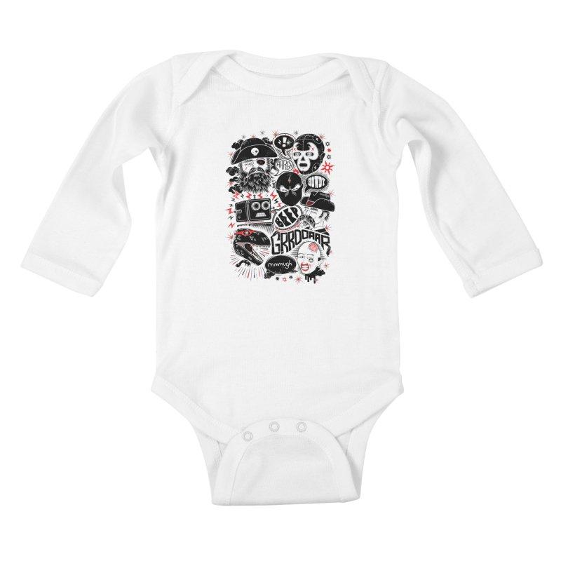 Team Fantastic Kids Baby Longsleeve Bodysuit by heavyhand's Artist Shop