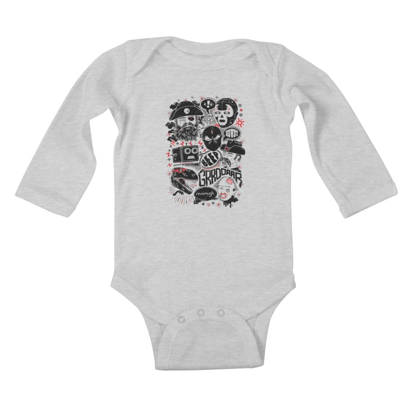 Team Fantastic Kids Baby Longsleeve Bodysuit by heavyhand's Artist Shop