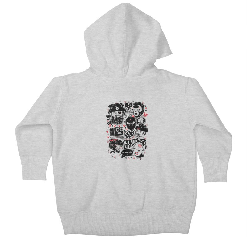 Team Fantastic Kids Baby Zip-Up Hoody by heavyhand's Artist Shop
