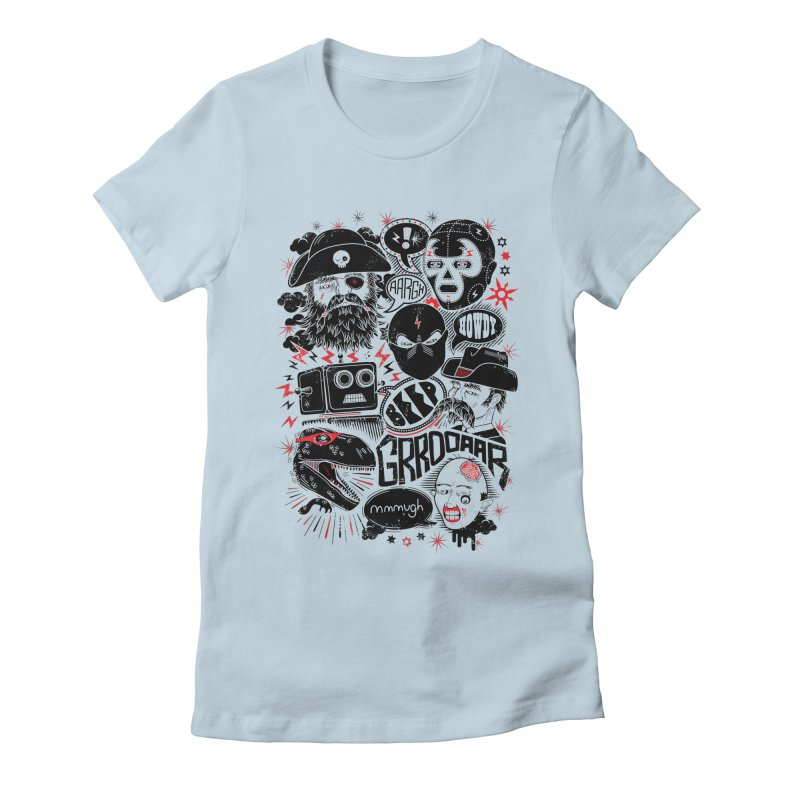 Team Fantastic Women's Fitted T-Shirt by heavyhand's Artist Shop