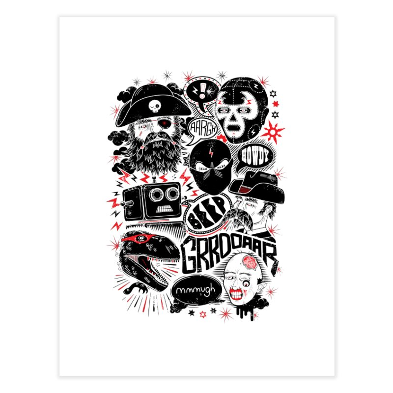 Team Fantastic Home Fine Art Print by heavyhand's Artist Shop
