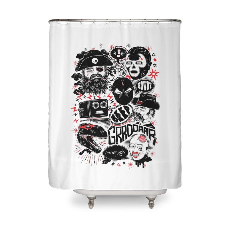 Team Fantastic Home Shower Curtain by heavyhand's Artist Shop