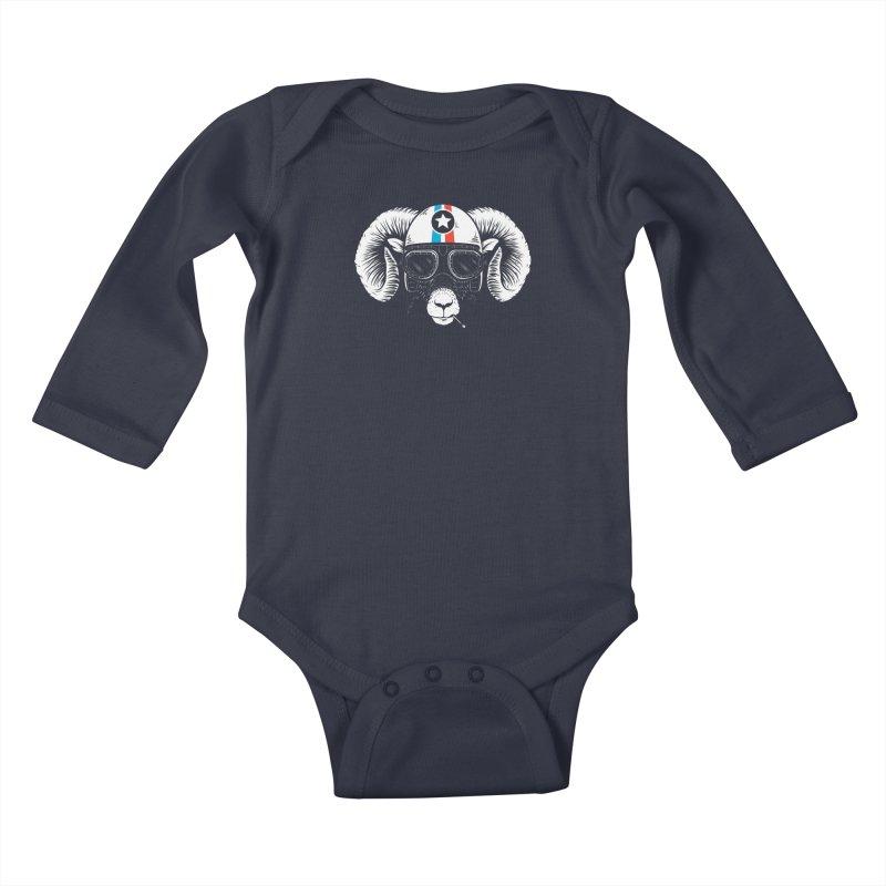 Prep Ramming Speed Kids Baby Longsleeve Bodysuit by heavyhand's Artist Shop