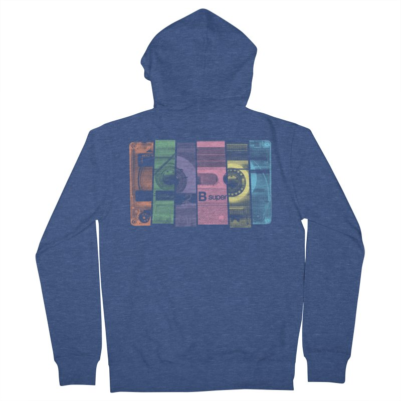Mix Tape Men's French Terry Zip-Up Hoody by heavyhand's Artist Shop