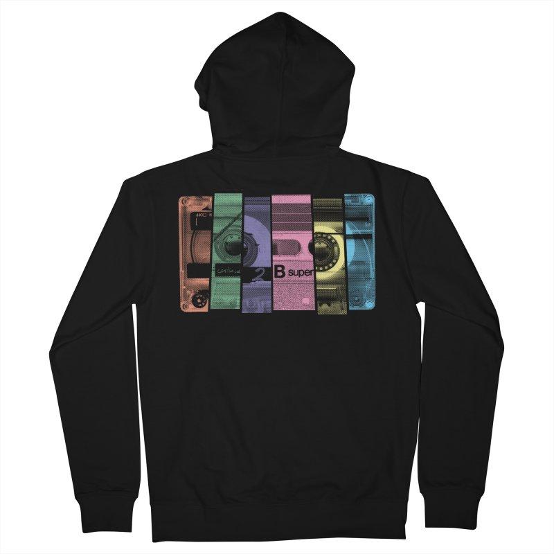 Mix Tape Men's Zip-Up Hoody by heavyhand's Artist Shop