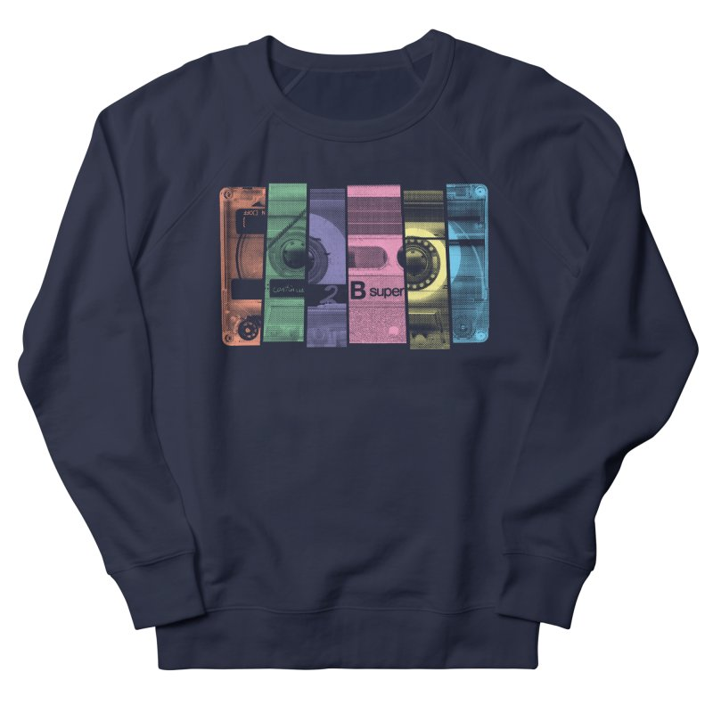 Mix Tape Women's French Terry Sweatshirt by heavyhand's Artist Shop