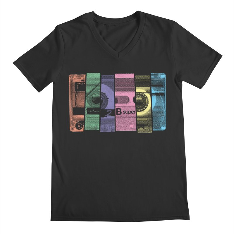 Mix Tape Men's V-Neck by heavyhand's Artist Shop