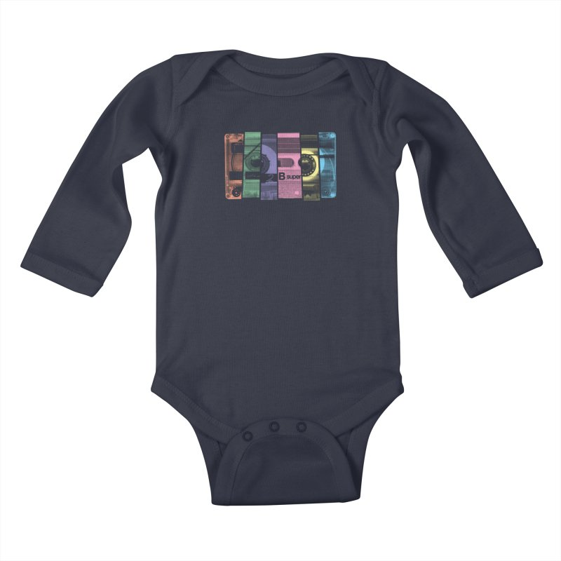 Mix Tape Kids Baby Longsleeve Bodysuit by heavyhand's Artist Shop