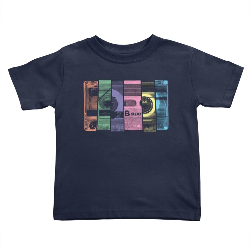 Mix Tape Kids Toddler T-Shirt by heavyhand's Artist Shop
