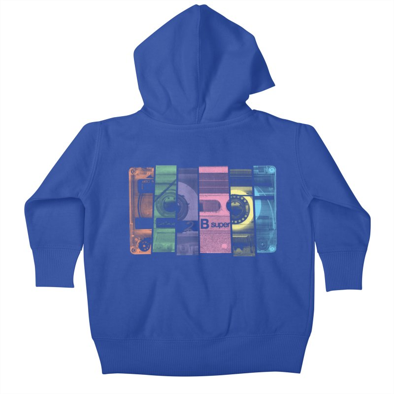 Mix Tape Kids Baby Zip-Up Hoody by heavyhand's Artist Shop