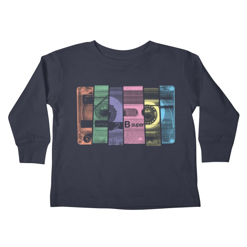 Mix Tape Kids Toddler Longsleeve T-Shirt by heavyhand's Artist Shop