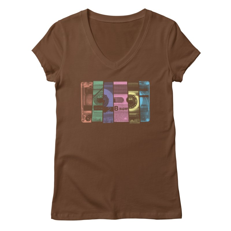 Mix Tape Women's V-Neck by heavyhand's Artist Shop