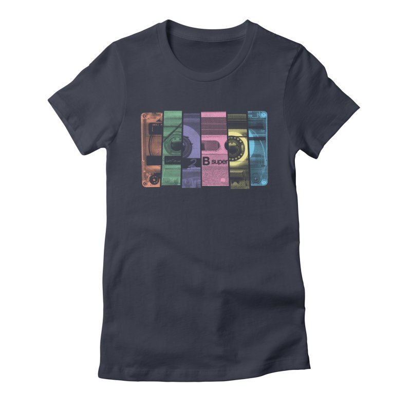 Mix Tape Women's Fitted T-Shirt by heavyhand's Artist Shop