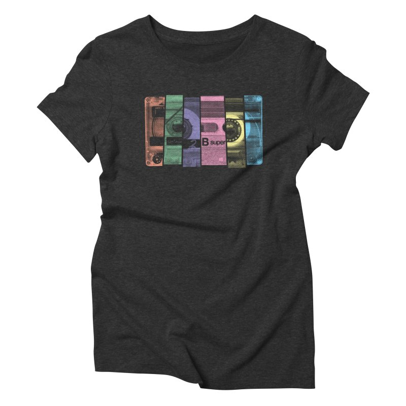 Mix Tape Women's Triblend T-shirt by heavyhand's Artist Shop