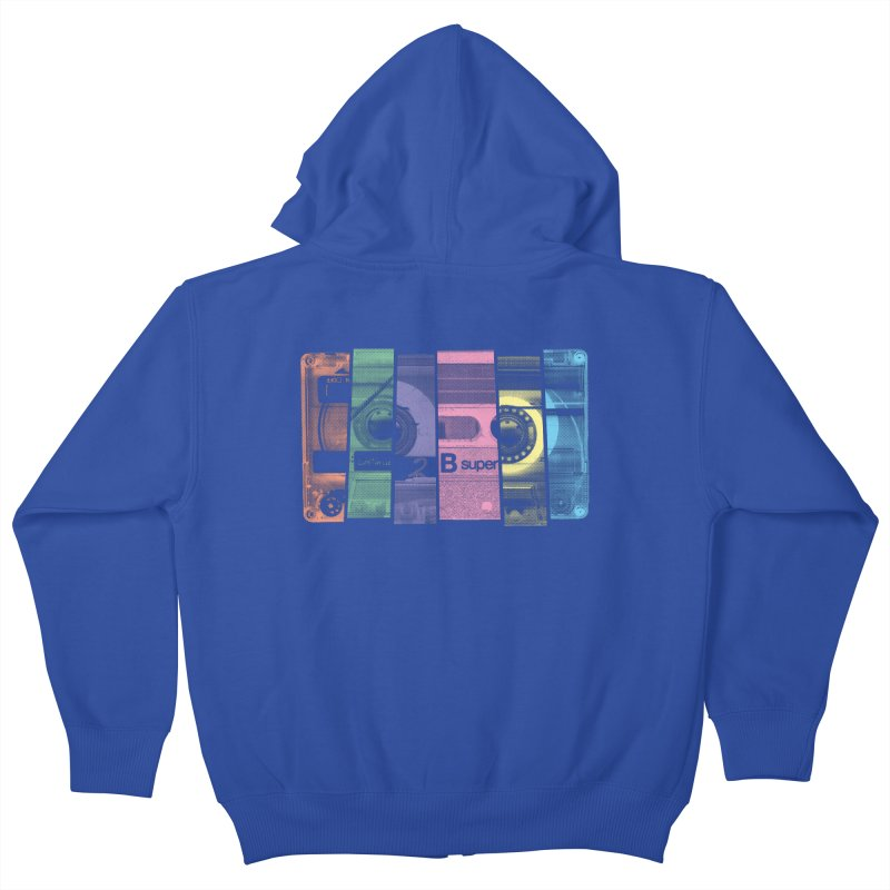 Mix Tape Kids Zip-Up Hoody by heavyhand's Artist Shop