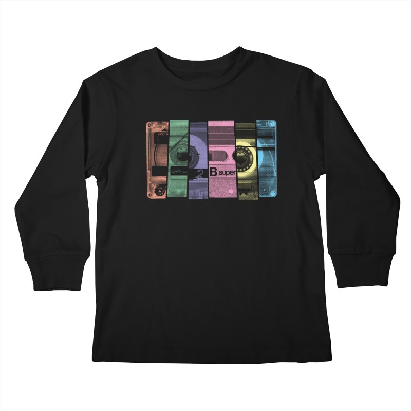 Mix Tape Kids Longsleeve T-Shirt by heavyhand's Artist Shop