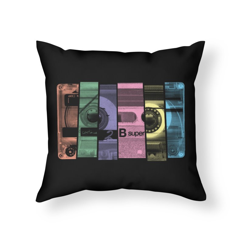 Mix Tape Home Throw Pillow by heavyhand's Artist Shop