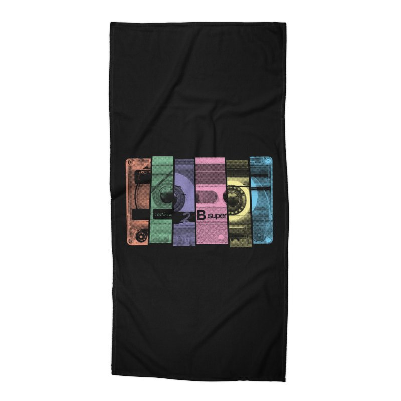 Mix Tape Accessories Beach Towel by heavyhand's Artist Shop