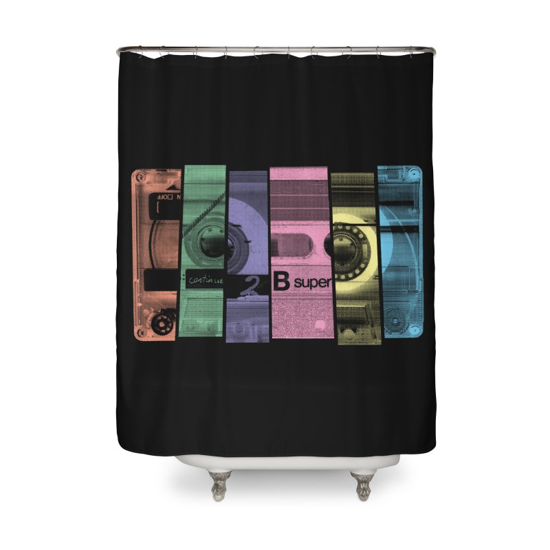 Mix Tape Home Shower Curtain by heavyhand's Artist Shop