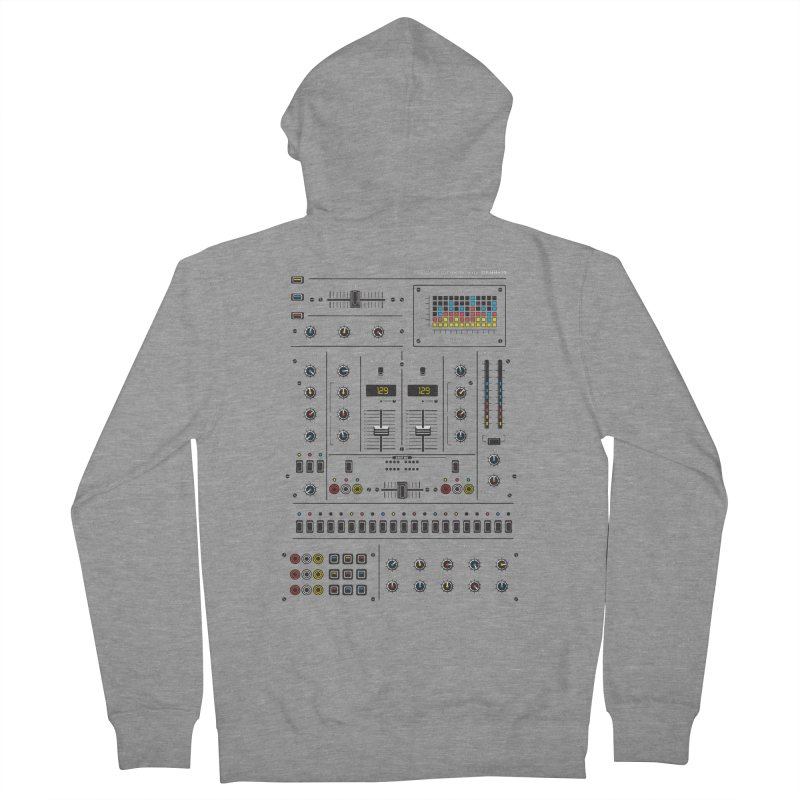 Self Control Mixer Men's French Terry Zip-Up Hoody by heavyhand's Artist Shop