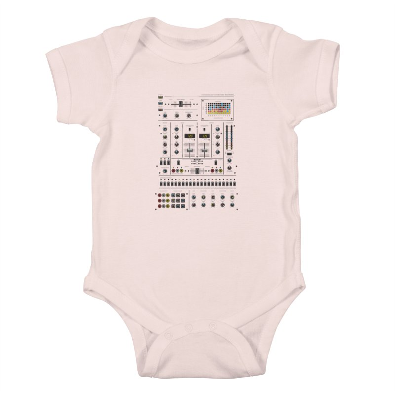 Self Control Mixer Kids Baby Bodysuit by heavyhand's Artist Shop