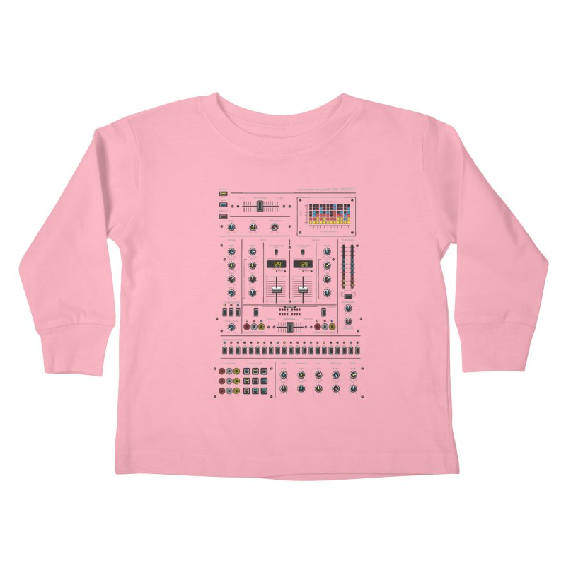 Self Control Mixer Kids Toddler Longsleeve T-Shirt by heavyhand's Artist Shop