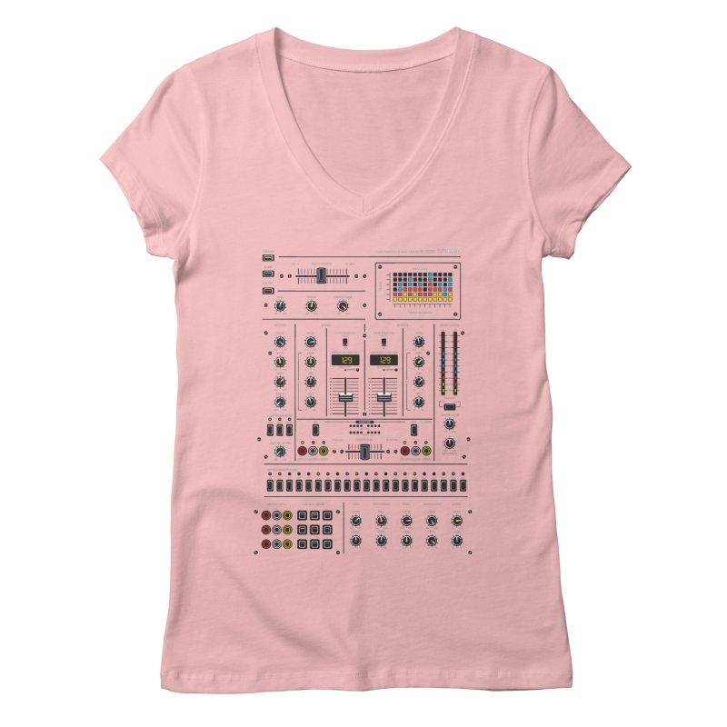 Self Control Mixer Women's V-Neck by heavyhand's Artist Shop