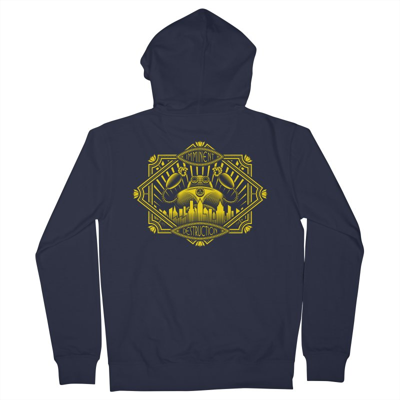 Imminent Destruction Men's French Terry Zip-Up Hoody by heavyhand's Artist Shop