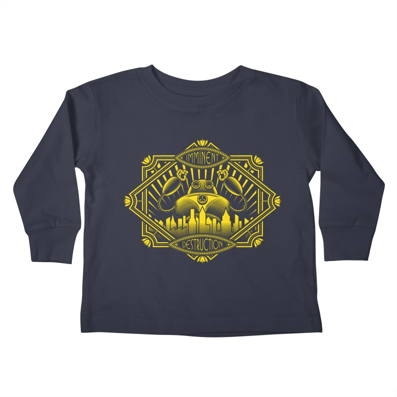 Imminent Destruction Kids Toddler Longsleeve T-Shirt by heavyhand's Artist Shop