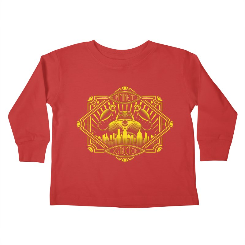 Imminent Destruction Kids Toddler Longsleeve T-Shirt by heavyhand's Artist Shop