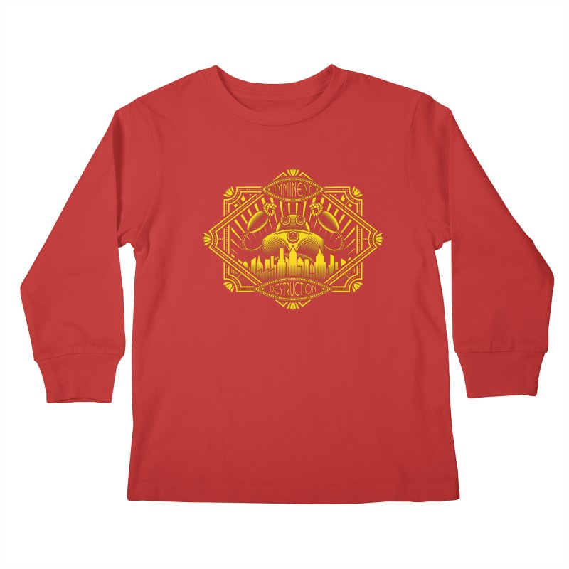 Imminent Destruction Kids Longsleeve T-Shirt by heavyhand's Artist Shop