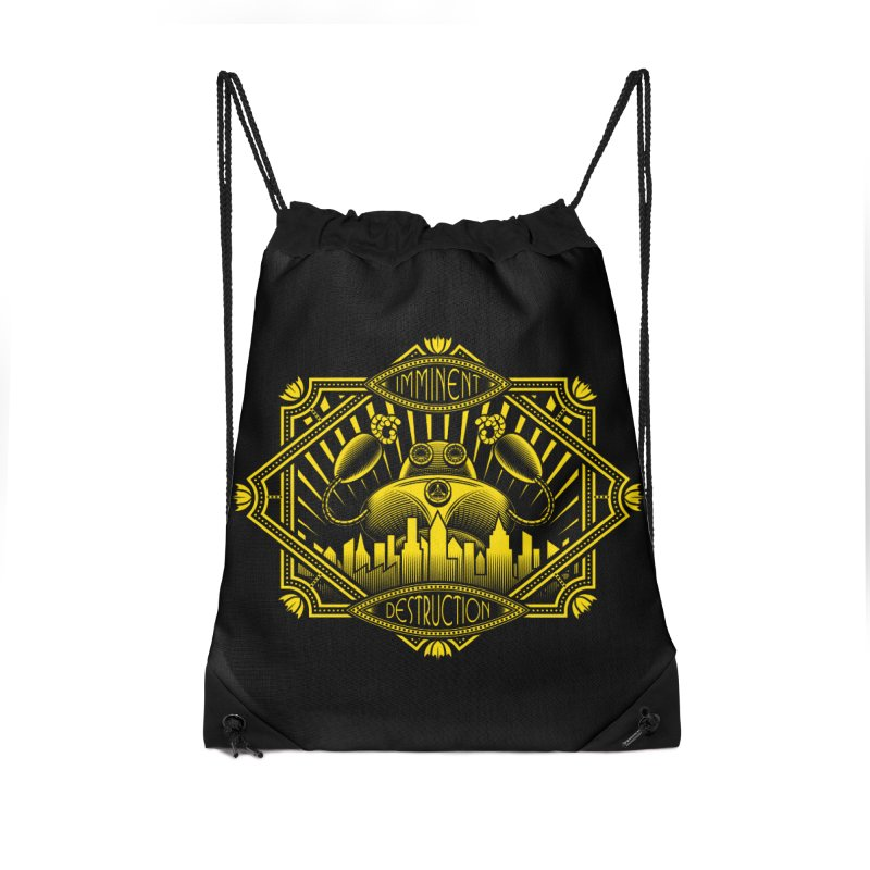 Imminent Destruction Accessories Drawstring Bag Bag by heavyhand's Artist Shop