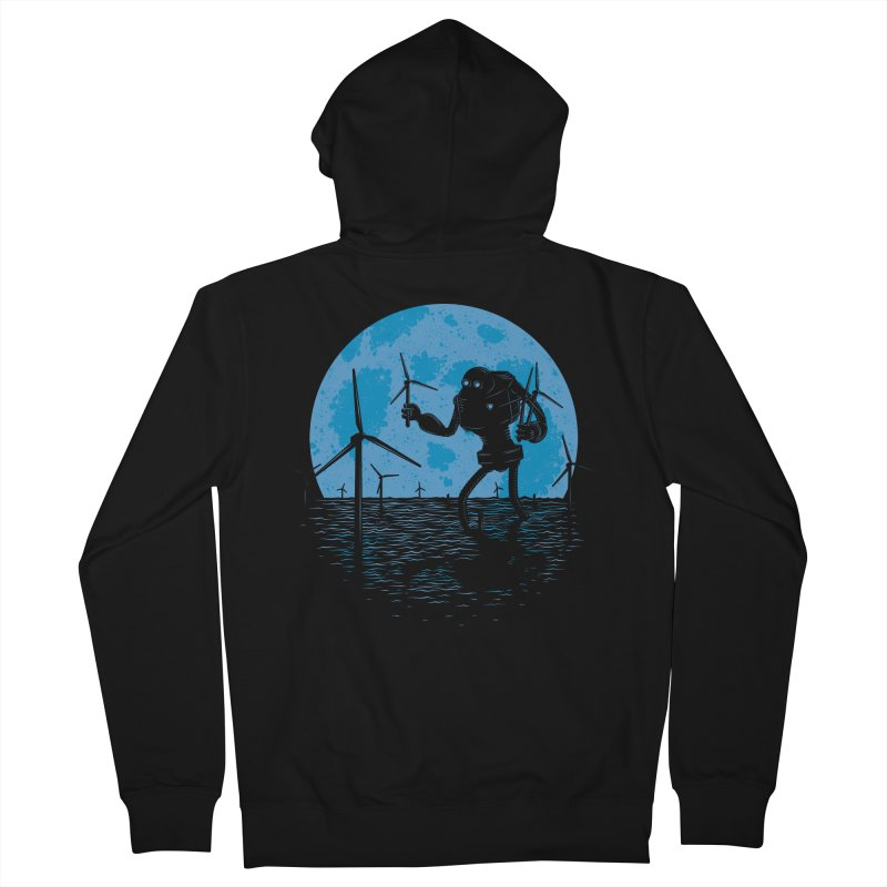 Picking Mechanical Flowers Men's French Terry Zip-Up Hoody by heavyhand's Artist Shop