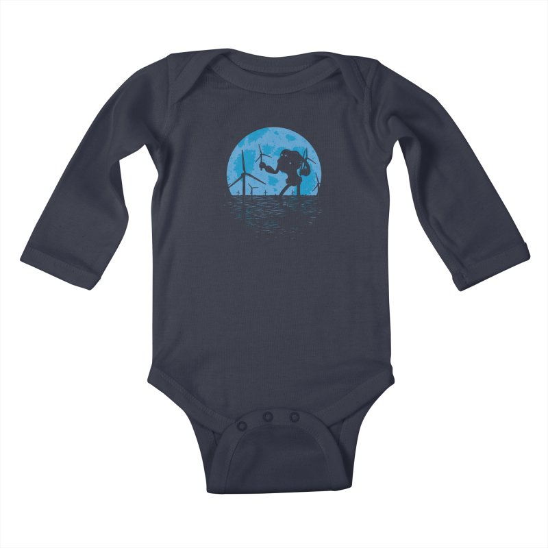 Picking Mechanical Flowers Kids Baby Longsleeve Bodysuit by heavyhand's Artist Shop