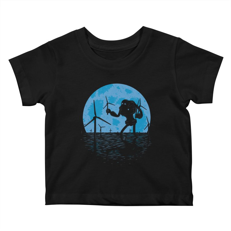 Picking Mechanical Flowers Kids Baby T-Shirt by heavyhand's Artist Shop