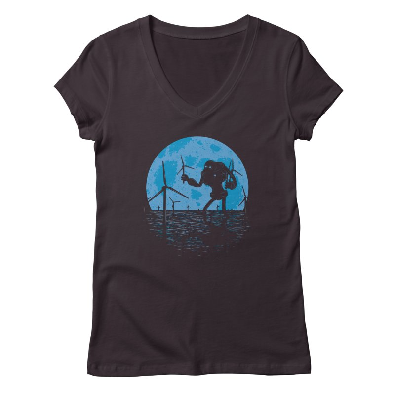 Picking Mechanical Flowers Women's V-Neck by heavyhand's Artist Shop